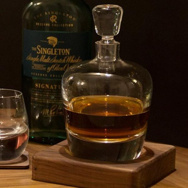 Arran Whiskey Decanter & Walnut Base - Modern Quests