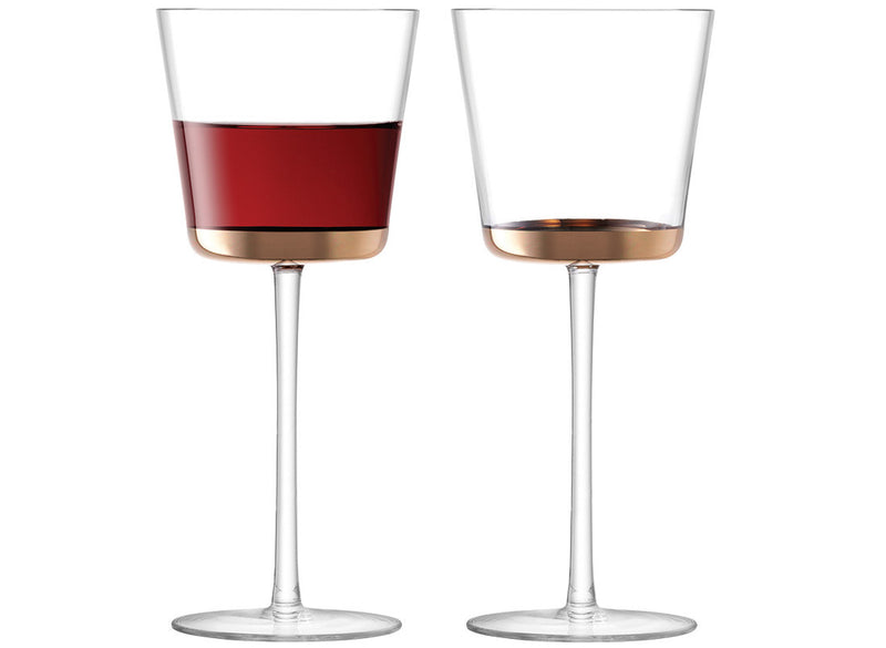 Rose Gold Edge Wine Glasses - Modern Quests