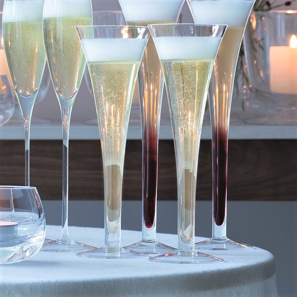 Hollow Stem Champagne Flutes, Set of 2
