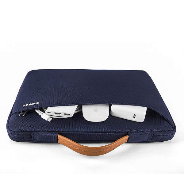 Surface Zipper Briefcase - Navy 15 to 16 Inch