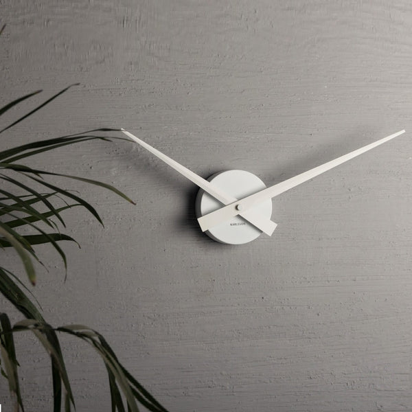 Little Big Time White Wall Clock