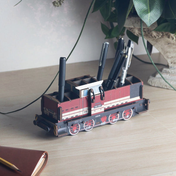 Pen Holder - Red Locomotive