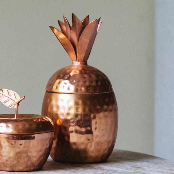 Pineapple Tropical Scented Candle - Copper
