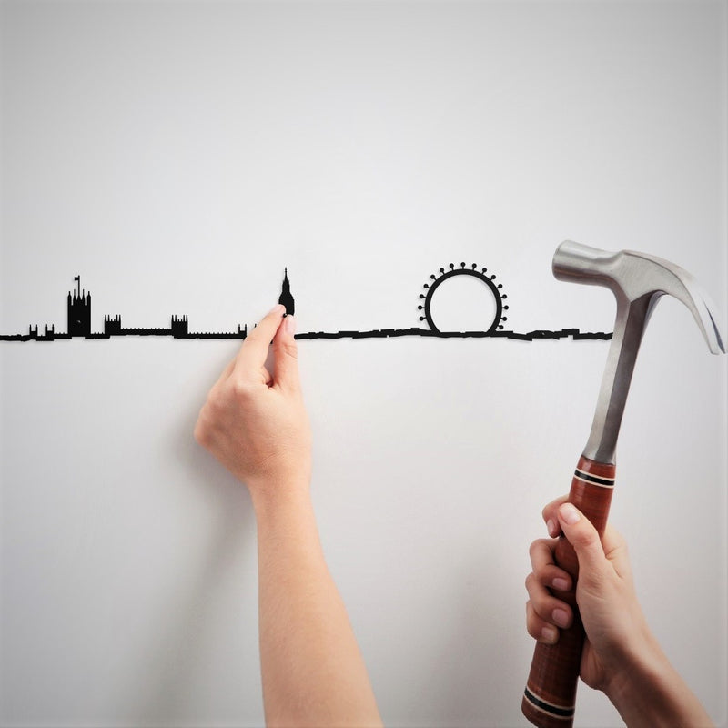 Metal Skyline Wall Decor - London