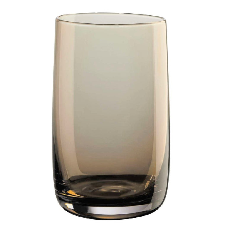 Long Drink Glasses, Set of 6 - Amber