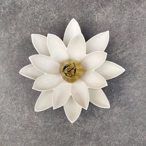 Lotus Flower Ceramic Wall Sculpture Large