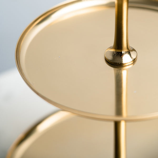 Two-Tier High Tea Stand - Brass