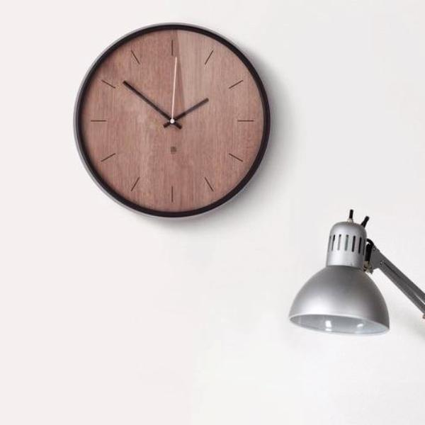 Madera Wall Clock - Walnut Black
