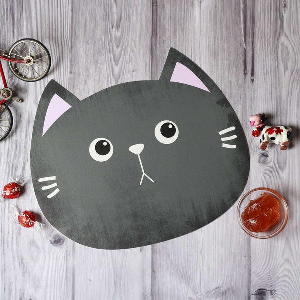 Jungle Placemats, Set of 2 - Grey Cat