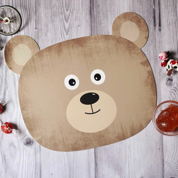 Jungle Placemats, Set of 2 - Brown Bear