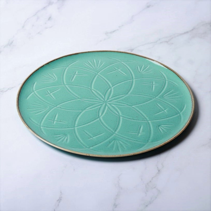 Christina Dinner Plate - Turquoise Blue