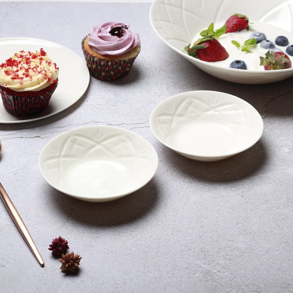 Christina Small Bowls, Set of 2 - Vista White