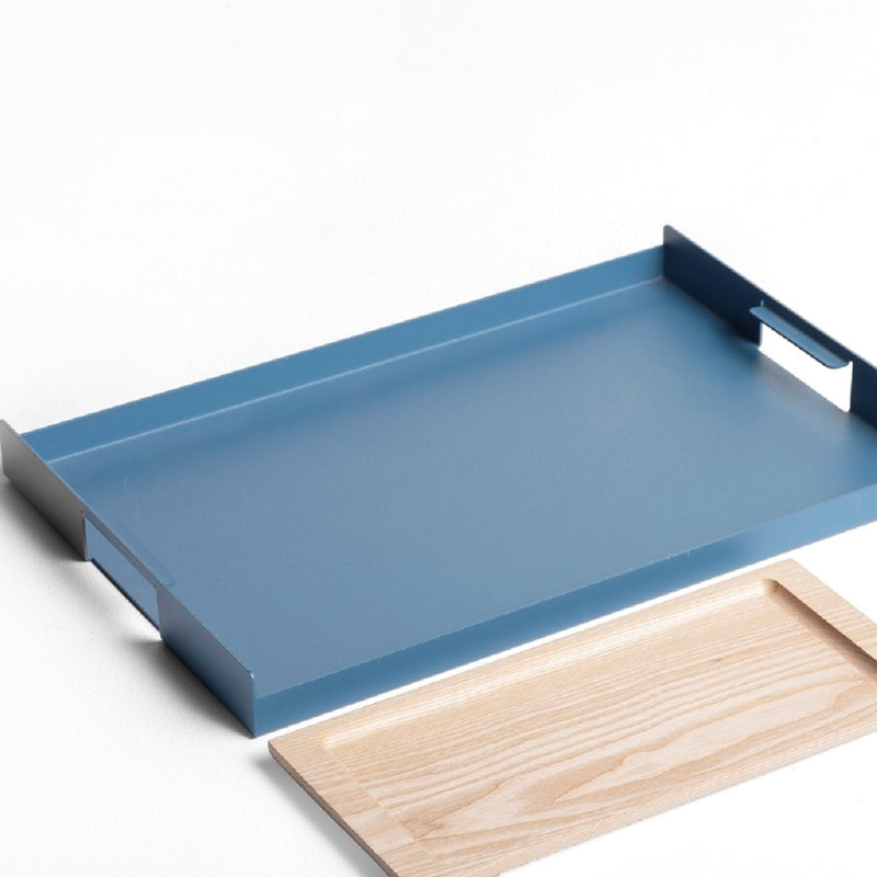 Flint Serving Tray, Large - Blue