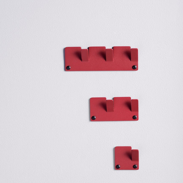 Tetris Wall Hooks, Set of 3 - Red