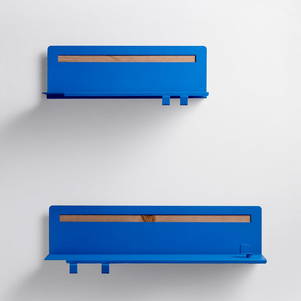 Brink Wall Shelves, Set of 2 - Cobalt Blue