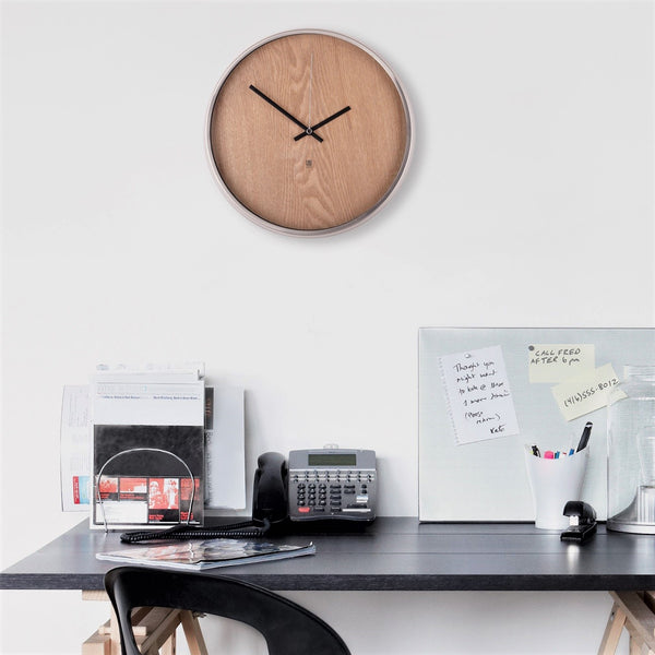 Madera Wall Clock - Natural Wood