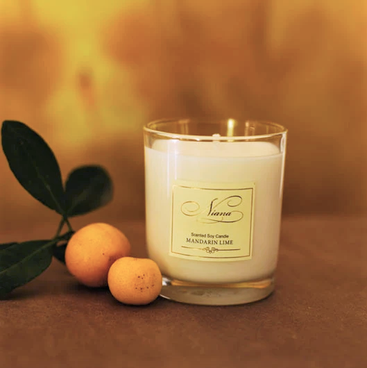 Mandarin Lime Scented Candle