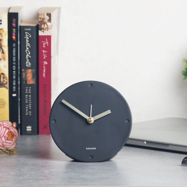 Mantel Alarm Clock - Matte Black