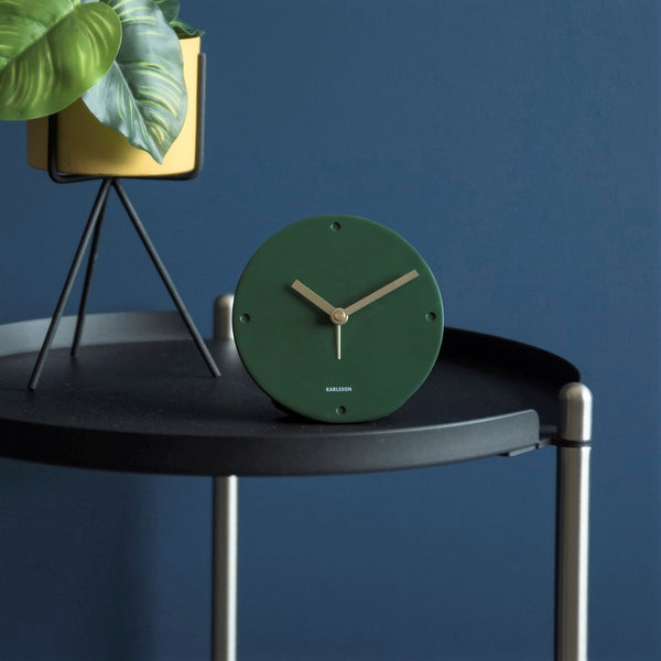 Mantel Alarm Clock - Dark Green