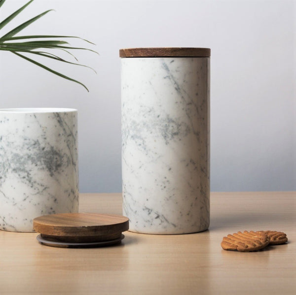 Storage Jar with Lid - Marble Large