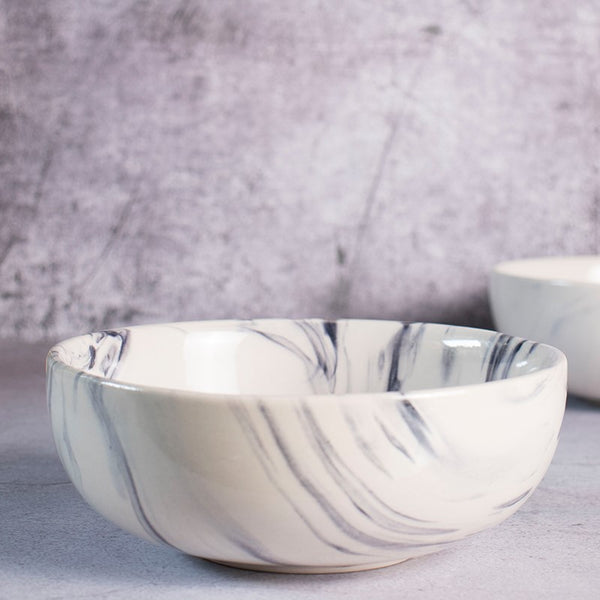 Medium Serving Bowl - Marble