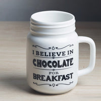 Porcelain Mason Mug - Chocolate