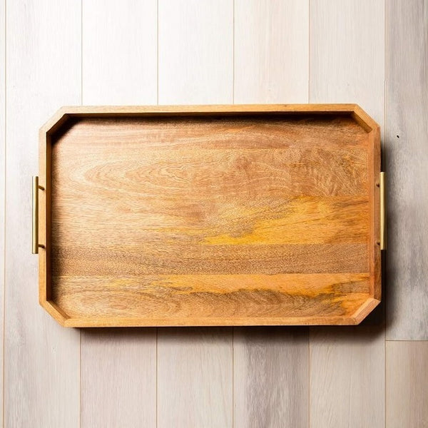 Matt Wooden Tray Large