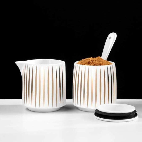 Tres Milk & Sugar Set - Gold Stripes