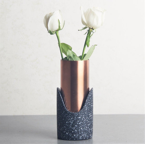 Fuse Speckled Vase - Black Copper