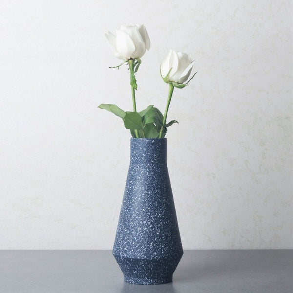 Ollie Speckled Vase - Navy