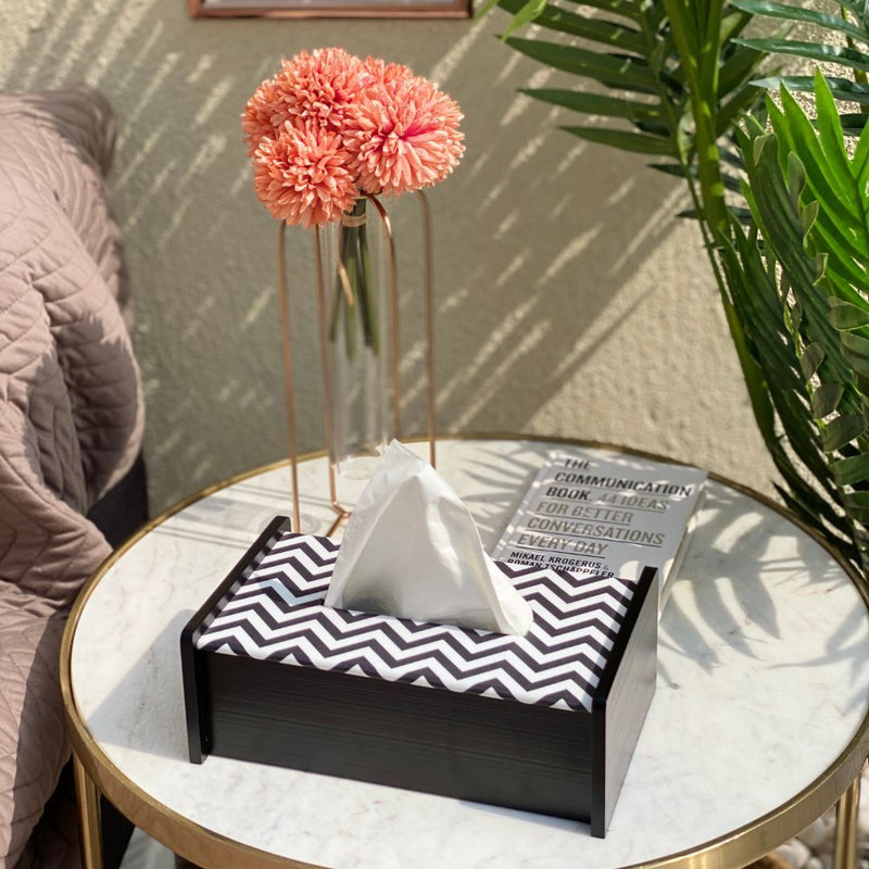 Monochrome Tissue Box