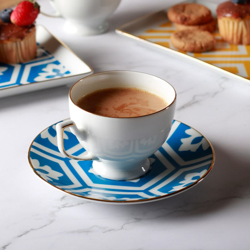 Morocco Cup & Saucer Set - Blue