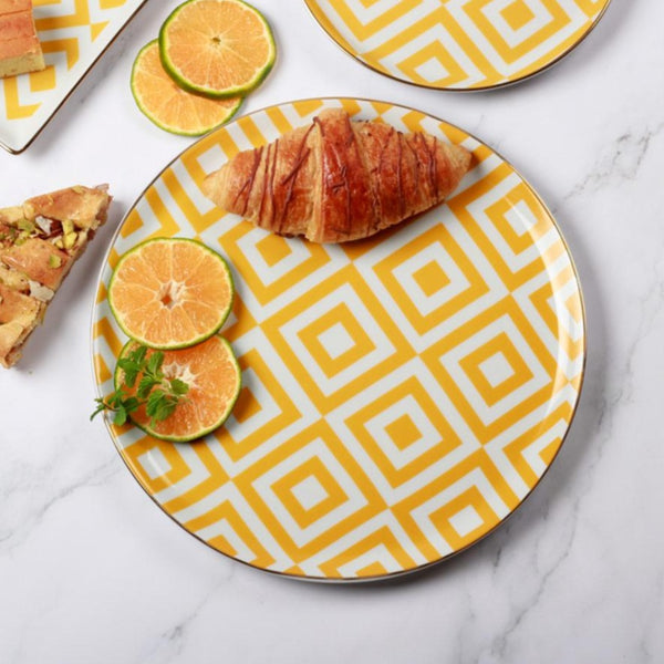 Morocco Dinner Plate - Yellow