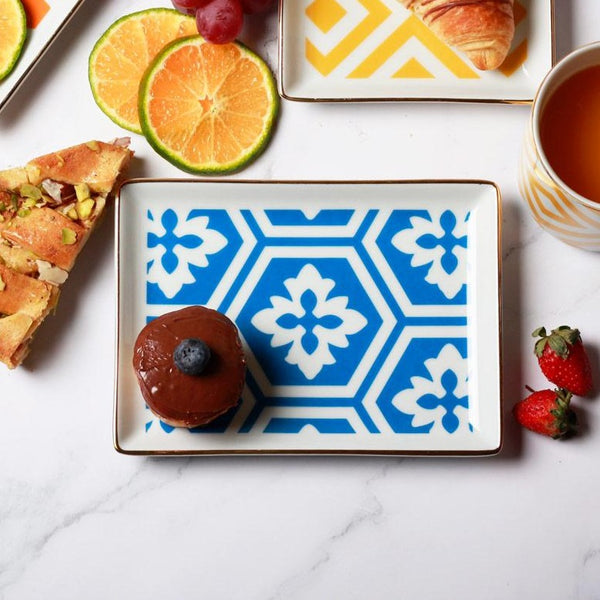 Morocco Small Breakfast Plate - Blue