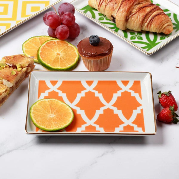 Morocco Small Breakfast Plate - Orange
