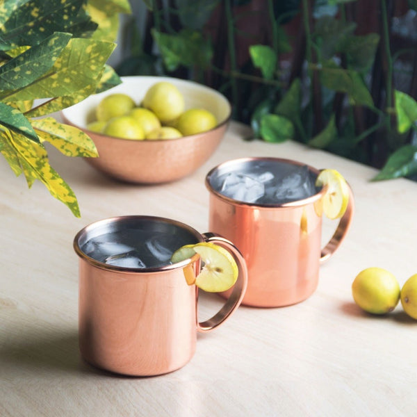 Moscow Mule Mugs Set of 2 - Copper