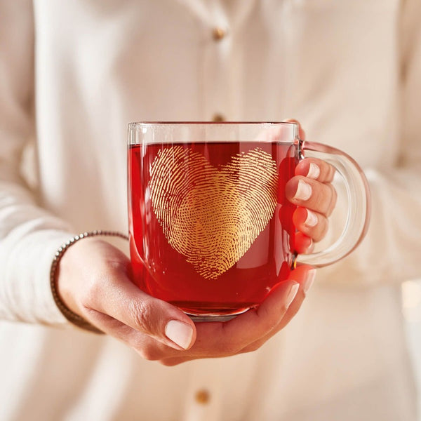Emozione Glass Mug - Heart