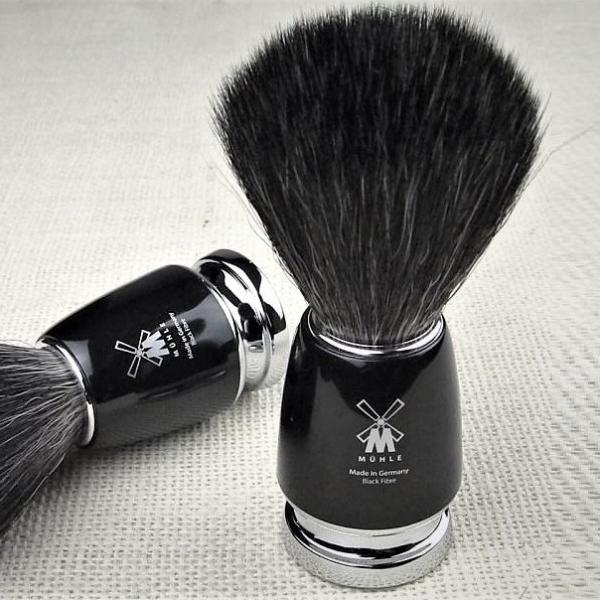 Rytmo Fibre Shaving Brush - Black
