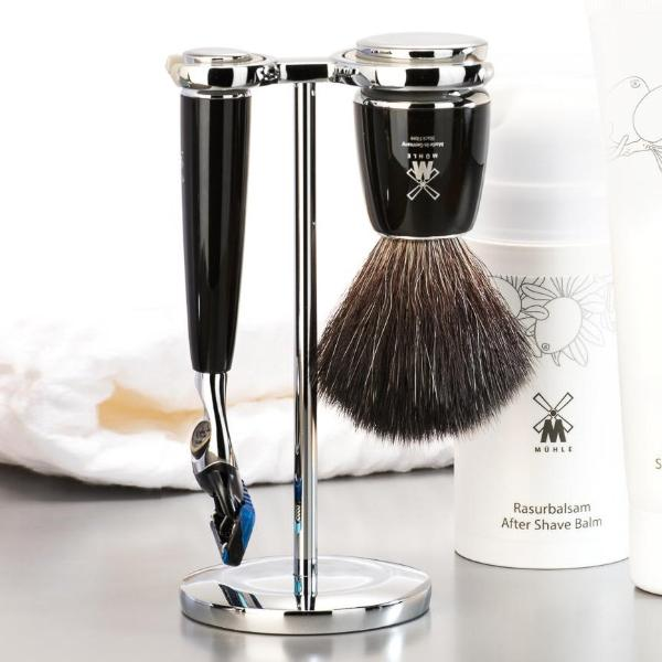 Rytmo Fusion Shave Set - Black Chrome