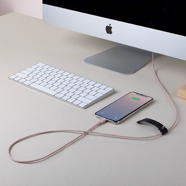 Belt Cable Apple USB-A to Lightning - Rose