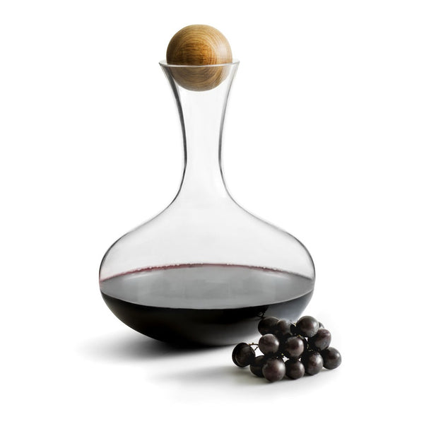 Nature Red Wine Carafe with Oak Stopper