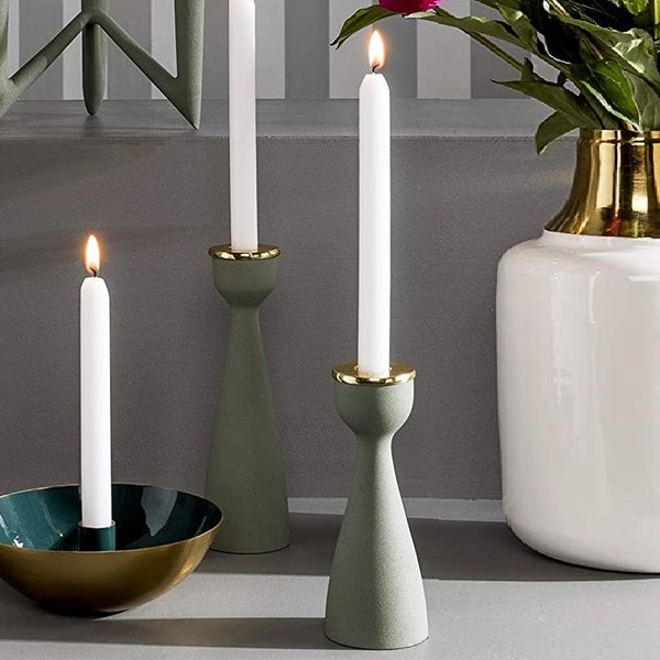 Slim Nimble Candle Holder - Green