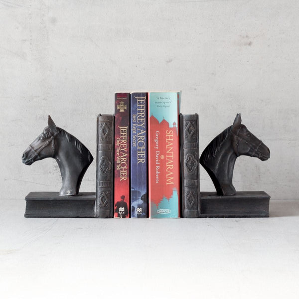 Bookends - Noir Horse