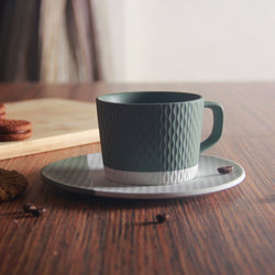 Nook Cup with Saucer - Olive Green