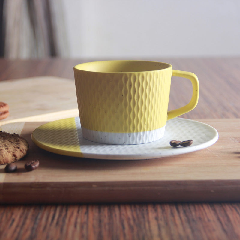 Nook Cup with Saucer - Mustard Yellow