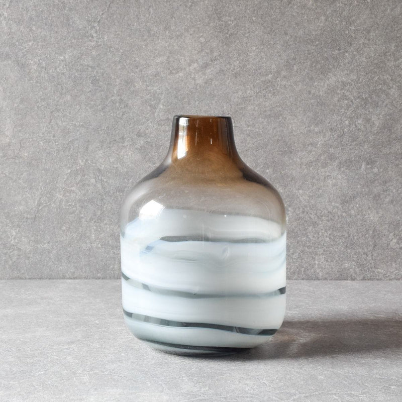 Norman Brown Swirl Glass Vase