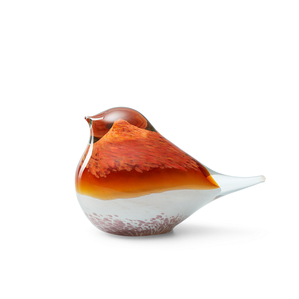 Atlas Glass Bird - Orange Pink