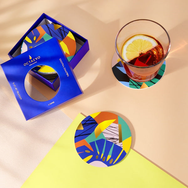 Cocktail Coasters, Set of 12 - Capri