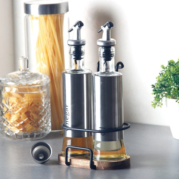 Oil & Vinegar Set with Holder