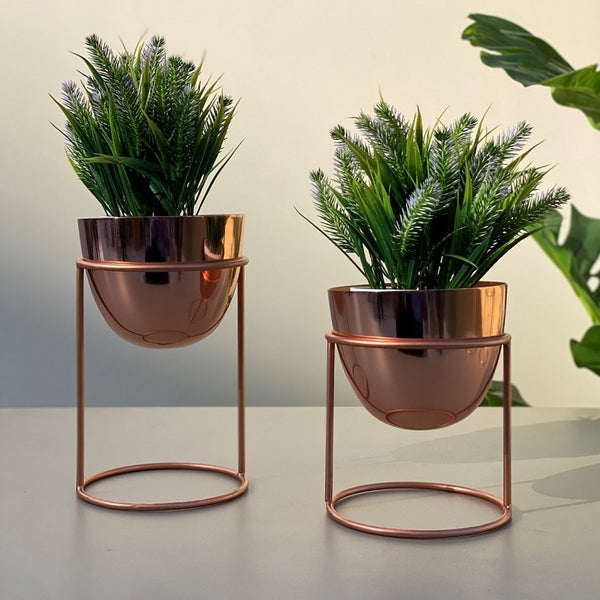 Olvera Small Desk Planters, Set of 2 - Copper
